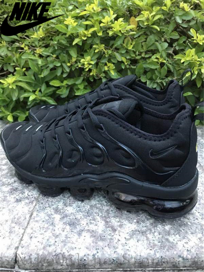 online store cc97e d5faf Nike Air Max Vapormax Plus TN Men And Women Running Shoes Cushioning Shoes  Outdoor Sport Black Low top Sneaker EUR36 45-in Running Shoes from Sports  ...