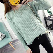 2018 Women Pullover Fashion Autumn Winter Warm O-Neck Casual Loose Sweater Knitted Tops Xnxee