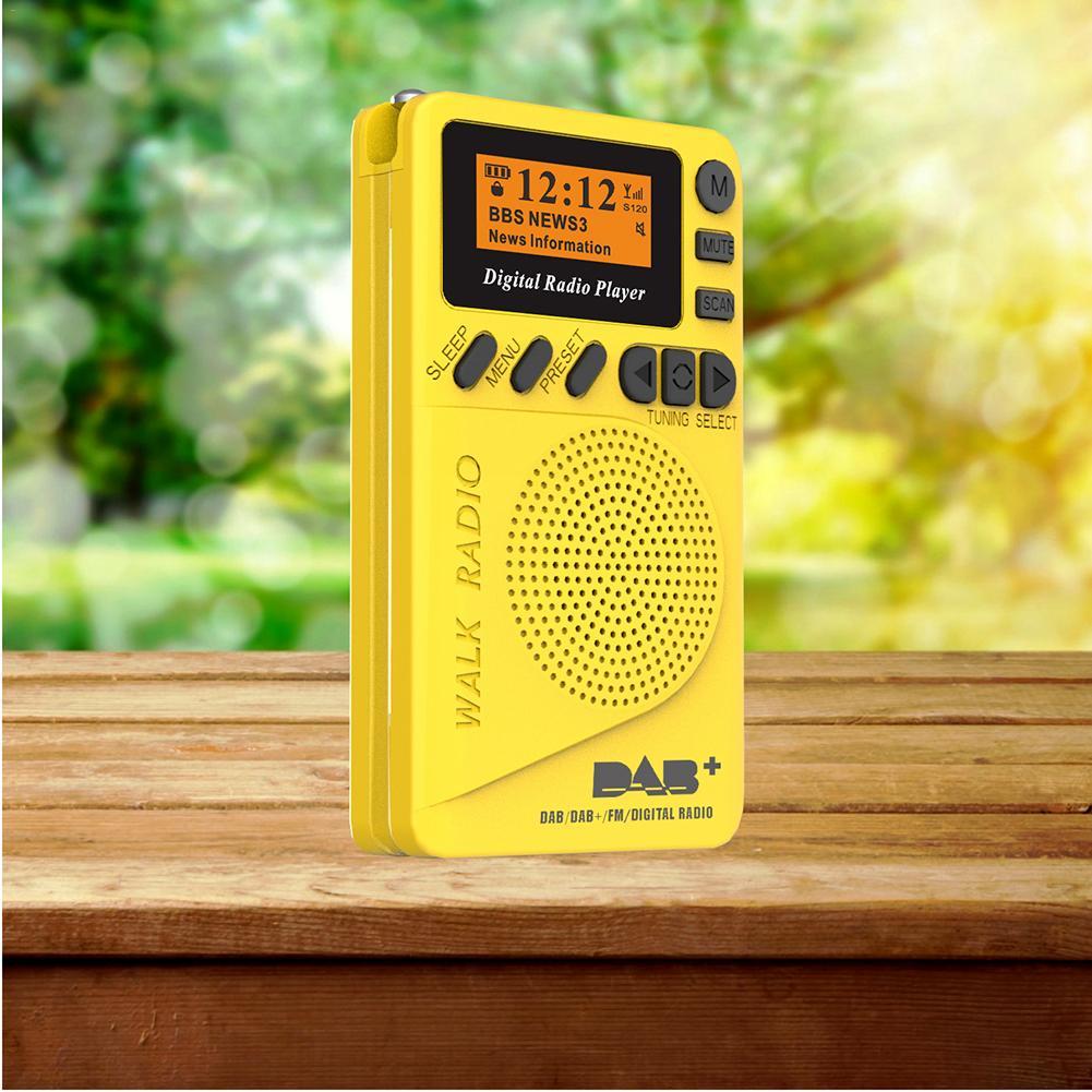 2019 Mais Novo Portátil DAB Rádio Digital FM Pocket Radio FM MP3 Player Com Display LCD E 170-240 MHz altifalante