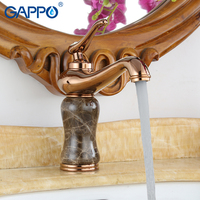 GAPPO Basin Faucets rose gold deck mounted basin sink mixer taps waterfall water taps basin mixer griferia bathroom