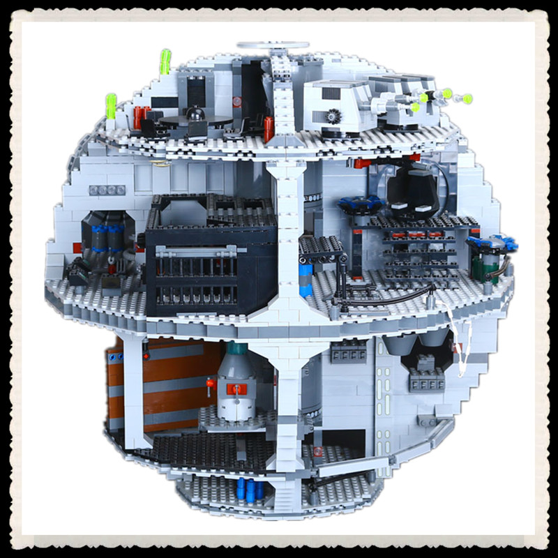 3804pcs NEW LEPIN 05035 Star Wars Death Star Building Block Bricks Toys Kits Compatible with10188 Child Gift lepin 22001 pirate ship imperial warships model building block briks toys gift 1717pcs compatible legoed 10210
