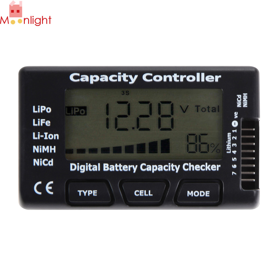 Practical Battery Tester LCD Digital Display Detecting Details about Battery Capacity Voltage Checker Tester For LiPo LiFe Li