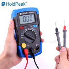 HoldPeak Mini Multimeter LCD Digital Capacitance meter Capacitor Tester pF mF Circuit Gauge 36D Back Light