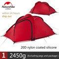 Naturehike Tent Hiby Serie Camping Tent 3-4 Personen Outdoor 20D Siliconen Stof Dubbele laag 4 Seizoen Ultralight Familie tent