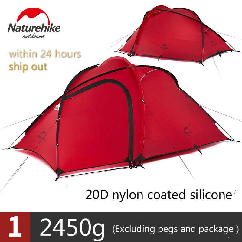 Naturehike Ultra-Léger Camping Tente 20D Silicone Tissu Étanche Double-Couche 2-3Person 4 Saison Famille tente de camping
