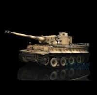 Желтый 2,4 ГГц HengLong 1/16 масштаб Пособия по немецкому языку тигр я Пластик Версия РТР Р/У танки модель 3818