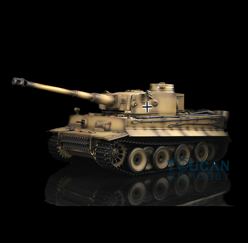 цена на Yellow 2.4Ghz HengLong 1/16 Scale German Tiger I Plastic Version RTR RC Tank Model 3818