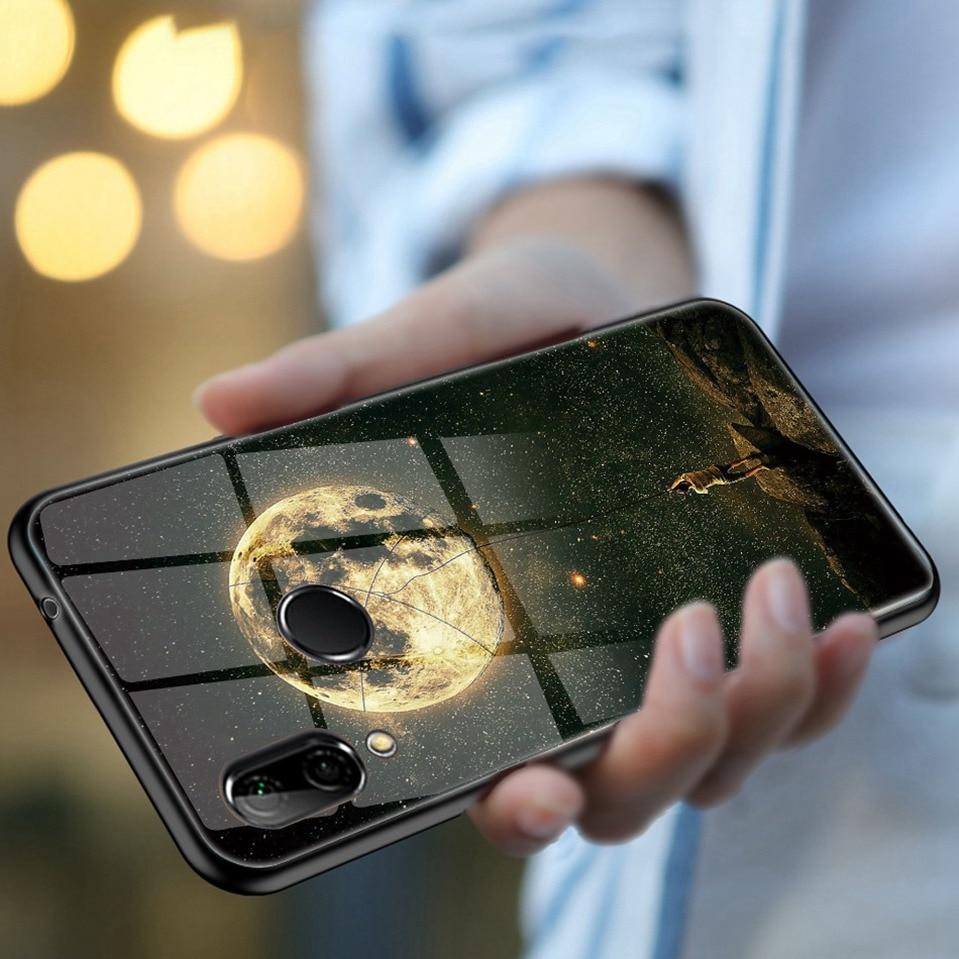 Tempered Glass Case For Xiaomi Redmi 6A Note 5 6 Pro Global 5 Plus 4X Cover Pattern Xiomi Phone Case for Xiaomi Mi A2 Lite A1 5X (15)