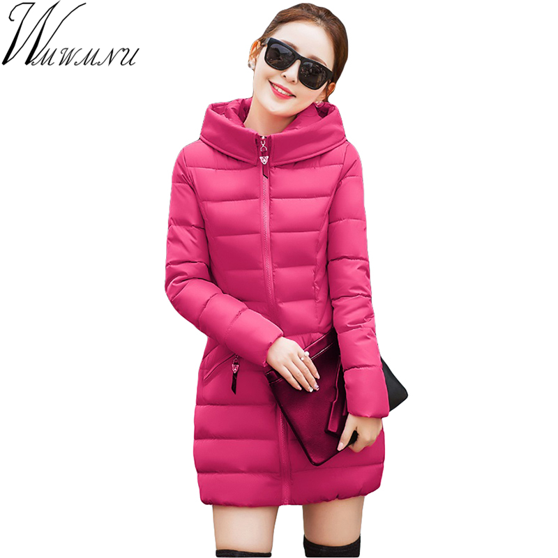 Wmwmnu 2017 new Winter Jacket Women Parkas Thick Winter medium long Coat Slim Outerwear Cotton-padded Jackets&Coats 8 color akslxdmmd large size winter coat women 2017 new mujer padded jackets and coats slim thick cotton long jacket coat parkas lh263