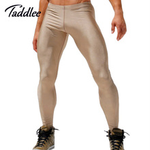 Taddlee Brand Men High Stretch Tight Pants Man Long pants Low Waist Sexy Men Legging Pant Man new Pants Sexy Designed Sweatpants