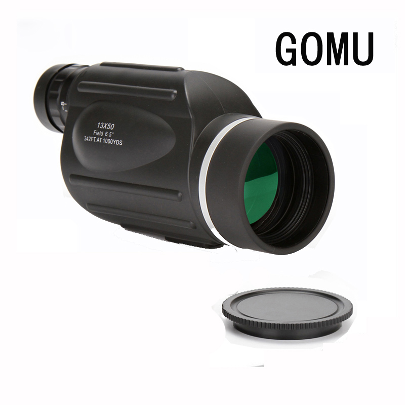 GOMU 13x50 binoculars with rangefinder waterproof telescope distance meter type monocular outdoor binoculars For Bird Watching