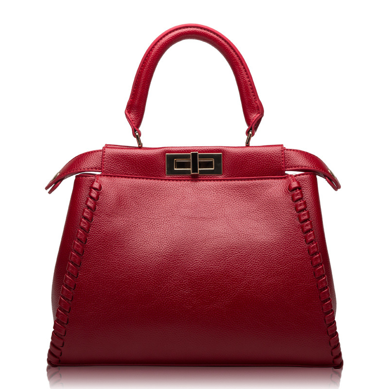 2018 autumn and winter leather handbags Europe and the United States fashion leather bag ladies shoulder bag shoulder bag 2018 new fashion europe and the united states women leather handbags ladies shoulder genuine leather bags cow leather totes sac