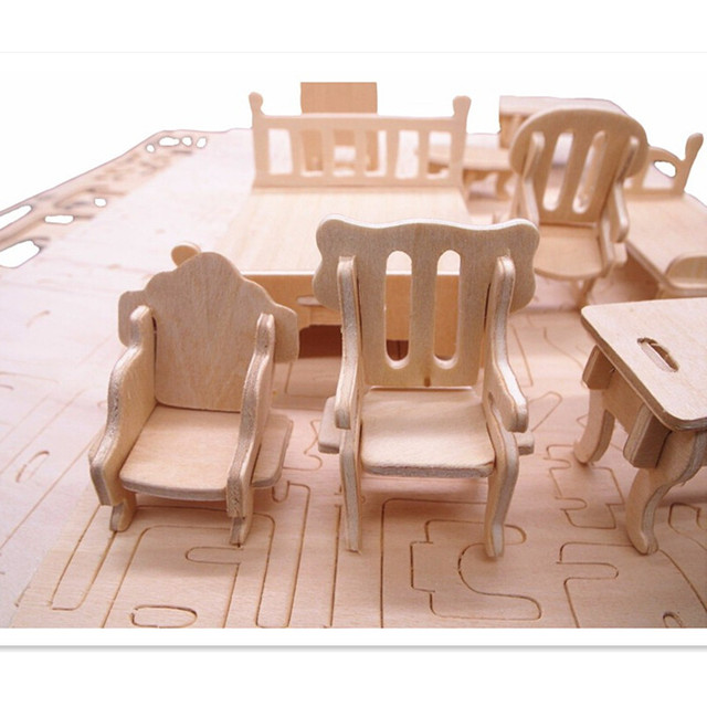 34 pcs/set miniature 1:12 dollhouse furniture for dolls,mini 3d