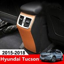 Кожа автомобиля подлокотник коробка сзади Кондиционер Vent Выход Обложка защитный чехол Pad Коврики для hyundai Tucson 2015 2016 2017 2018