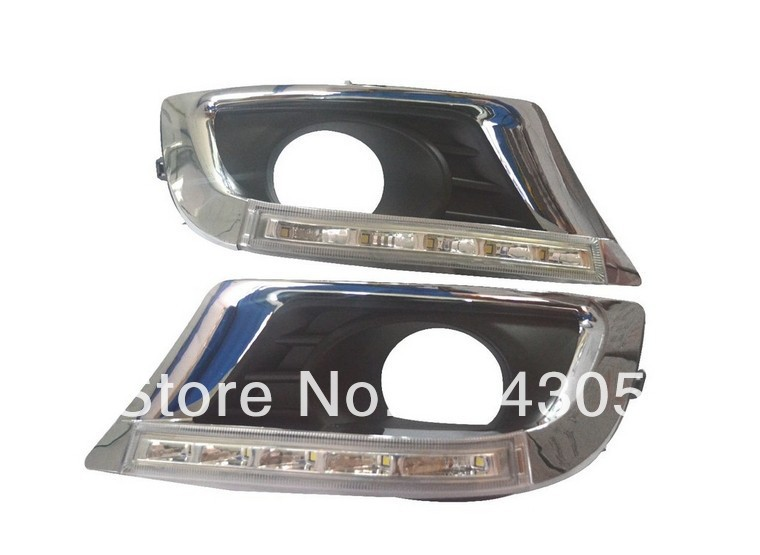 1set special for TOYOTA Camry 2011 LED DRL LED Daytime Running Light with 5 LED chips highlight free shipping 3W replikey rk9189 toyota camry 7x17 5x114 3 d60 1 et45 w