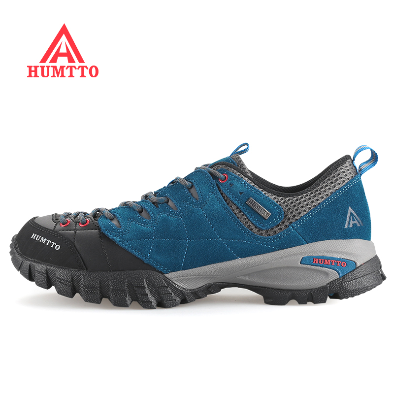 Brand HUMTTO Mens Leather Outdoor Trekking Hiking Shoes Sneakers For Men Wearable High Quality Climbing Mountain Shoes Man humtto outdoor hiking shoes for women breathable men s sneakers summer camping climbing lovers upstream sports man woman brand