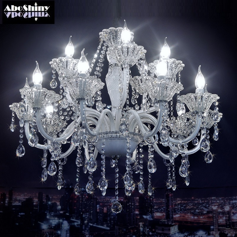 Chandelier crystal European Model Luxury crystal White Modern crystal chandelier Lighting White Chandelier for bedroom