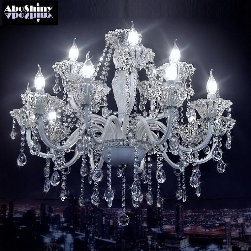 Chandelier crystal European Model Luxury crystal White Modern crystal chandelier Lighting White Chandelier for bedroom