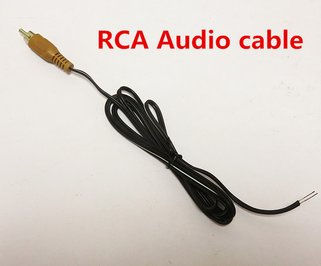 Free Ship 10PCS RCA Audio cable Multimedia computer speakers ...