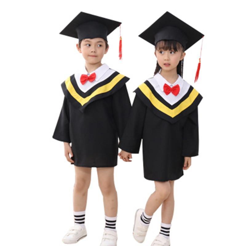 SONGYUEXIA Children Academic Clothing Doctor School Clothes Kid Graduation Student Costumes Kindergarten Graduated Girl Boy