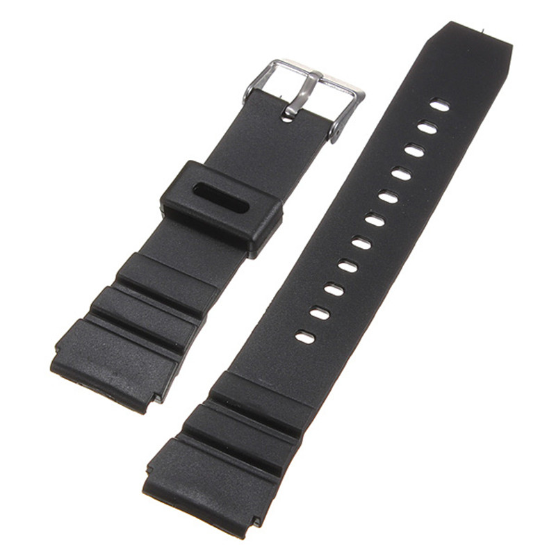 New Arrival High Quality Soft Silicone Sweatband Strap Buckle Wrist Watch Strap 18mm black Military Free Shipping high quality soft sweatband leather strap steel buckle wrist watch band 3522 brand new luxury free shipping