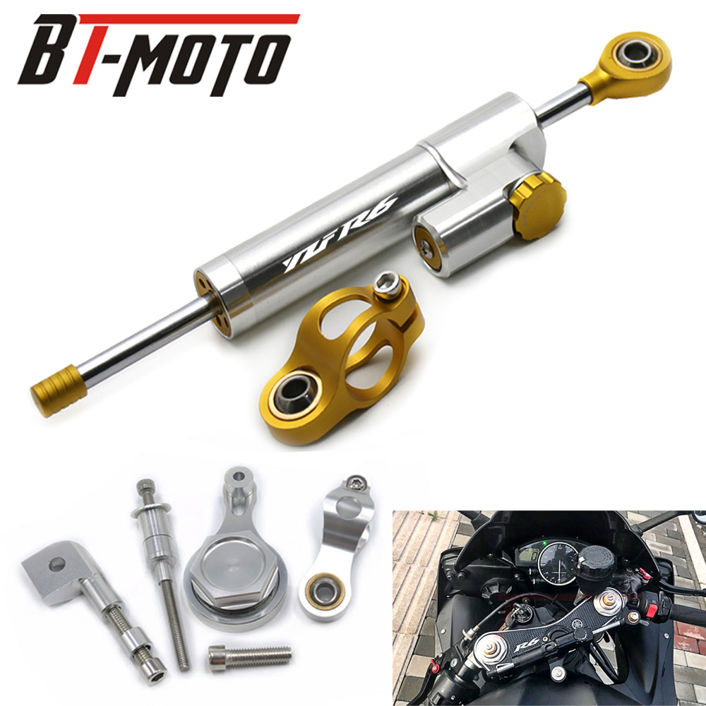 High Quality CNC Aluminum Adjustable Motorcycles Steering Stabilize Damper Bracket Mount For YAMAHA YZF R6 2006-2017
