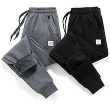 Thick Fleece Jogger Mens Pants Cotton Trousers Male Winter Warm Velvet Sweatpants Tracksuit Joggers Autumn Winter M-4XL