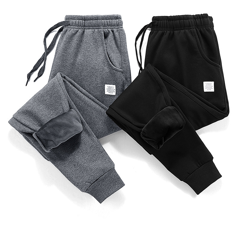 2018 Thick Fleece Jogger Mens Pants Cotton Trousers Male Winter Warm Velvet Sweatpants Tracksuit Joggers Autumn Winter M-4XL