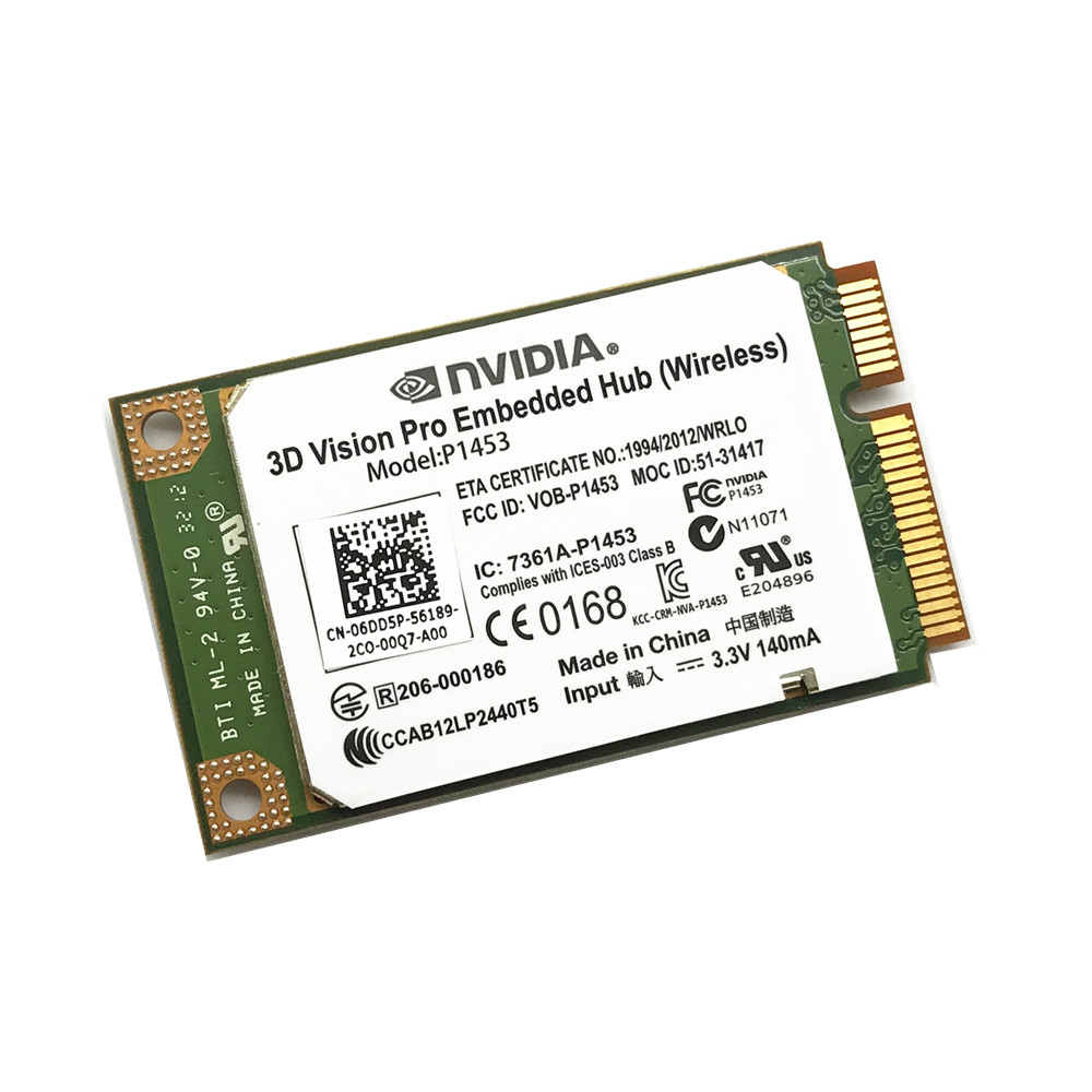 New Dell Nvidia 3D Vision Pro Embedded Hub Wireless Card Model P1453 6DD5P