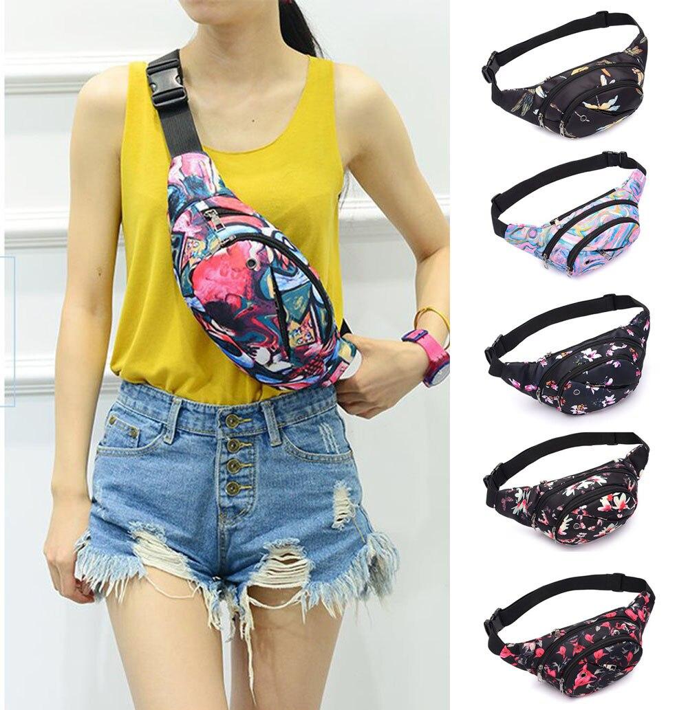 Fanny Pack For Women Men Waist Bag Colorful Unisex Waistbag Belt Bag Zipper Pouch Packs Belt Printed Waist Pack