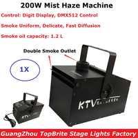 200W Fog Machine DMX Smoke Machine Professional 200W Mist Hazer For Wedding Home Party Stage Dj Lighting Shows Equipments
