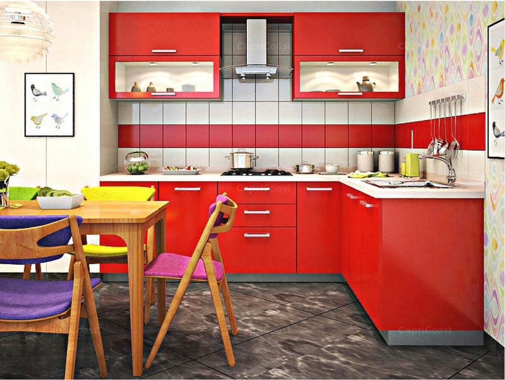 20117 ventas calientes alto brillo lacado gabinetes de cocina de color blanco moderno 2PAC muebles de cocina despensa L1606076