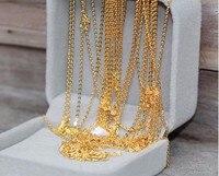 Горячая распродажа чистый 24 К к желтое золото цепи цепочки и ожерелья/Best женская O Цепи цепочки ожерелья/2,5 г