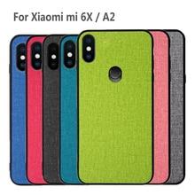 For Xiaomi Mi A2 Case 6X back cover silicone edge fabric protective case capas for Mi6X MiA2