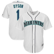d61141f5424 MLB Men s Seattle Mariners Jarrod Dyson Baseball Home White Cool Base  Replica Player Jersey