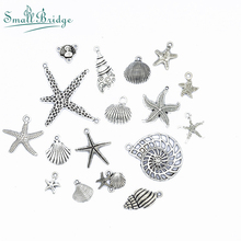 Starfish Shapes Ancient Silver Alloy Beads Plated fit Bangles Necklace DIY Jewelry for Women Mix Spacer Clip Wholesale