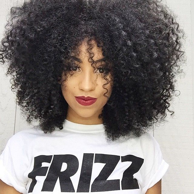 African American Wigs Fiber Afro Kinky Curly Hair Wigs Synthetic