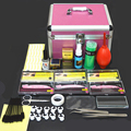 1 Conjunto Kit de Extensão de Cílios Beleza Portátil Profissional Enxertia Cílios com Caixa Caso para Salão de Beleza Maquiagem