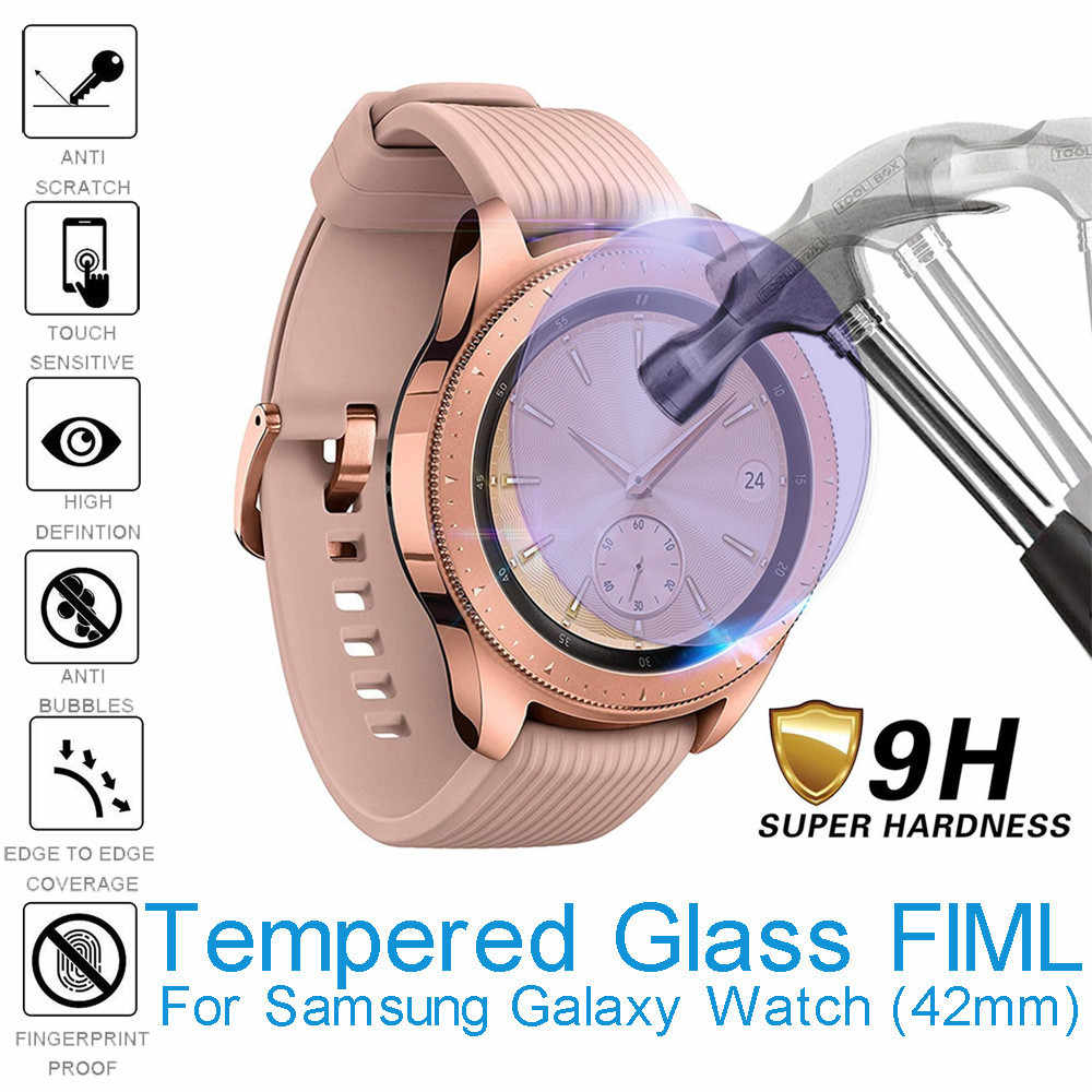 1Pcs 42mmAnti Blue light Transparent Tempered Glass Screen ProtectorFor Samsung Galaxy Watch