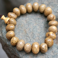 Natural Ingot  Bodhi Seed Tibetan Buddhist  Prayer Beads  Mala Buddha Bracelet Rosary Wooden Bangle Jewelry
