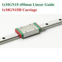 MR15 15 мм Мини MGN15 Линейной Направляющей Длина 450 мм С MGN9H Линейный Блок Каретки Для 3D Части