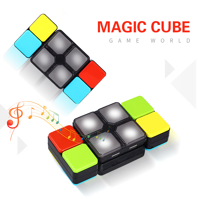 15 Levels Music Cube Magic Cube Electronic Toy Skew Cube Changeable Intelligent Puzzle with Led Light Anti Stress Cube Puzzle