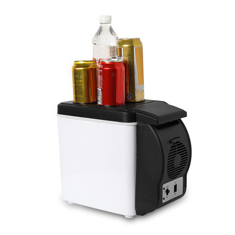 6L Car Refrigerator Multi-Function Travel Fridge Home Cooler Warmer Low Noise Cold Hot Dual Use Powerful Cooling Energy Saving
