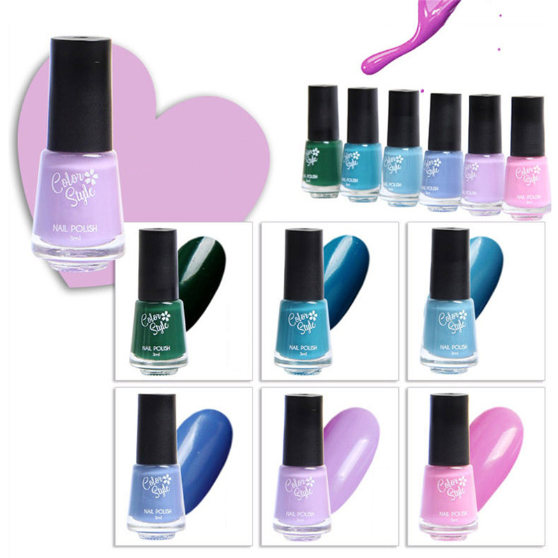 6 flasche Wasserdichte Nagellack Set Gel <font><b>Polish</b></font> Lack UV LED <font><b>Nail</b></font> art Decor image