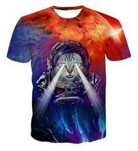 Astronaut Cat 3D t-shirt