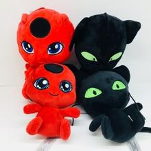 20cm Miraculous Ladybug Cat Plagg & Tikki Noir Plush Toy Plush Pendant Clip Keychain Lady Bug Adrien Marinette Plush Toys Doll