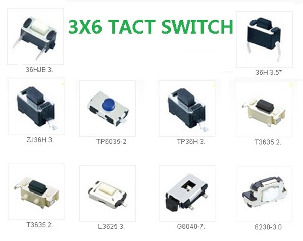 Normally Open Switch >> Free shipping 3x6 100pcs/lot each type 2 pin mini tact switch 3*6 push button micro switch on ...