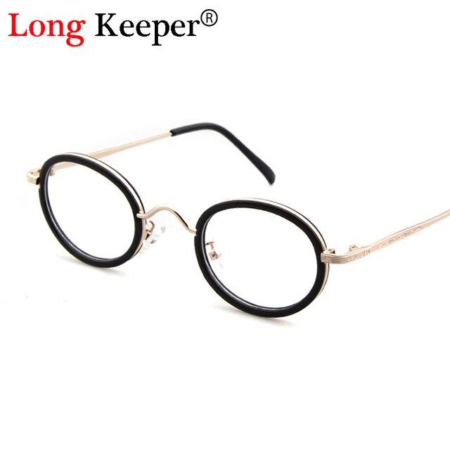 ad5fc1add9bb2 Longo Goleiro Transparente das Mulheres do Sexo Feminino Óculos de Armação  de Óculos Redondos Óculos Retro