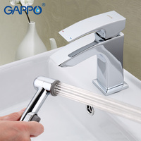 GAPPO bathroom faucet Deck Mounted Basin Sink Faucet mixer torneira Cold Hot Water Mixer tap grifo in hand shower set GA1207