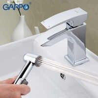 GAPPO grifo de baño montado en la cubierta lavabo grifo mezclador de agua fría de torniira grifo en el juego de ducha de mano GA1207